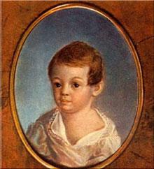 Пушкин в детские годы.