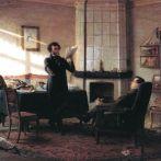 Портрет Пушкин в селе Михайловском, худ. Н.Н. Ге. 1875г. Пущин у Пушкина.
