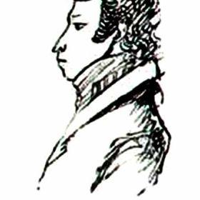 Автопортрет, исполненный в период ссылки в Михайловское 1824г.